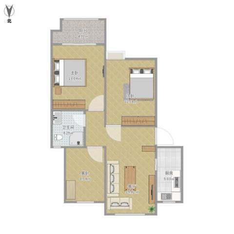 怡馨家园3室1厅1卫1厨90.00㎡户型图