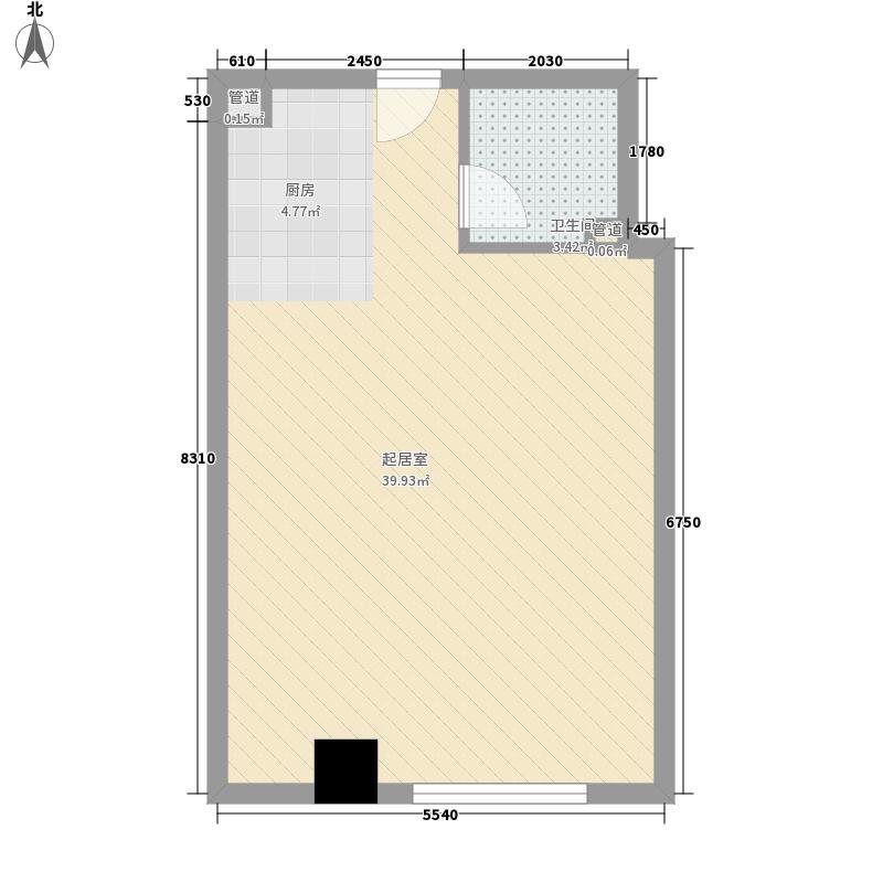 名爵观邸户型图爱洛公馆 1室1厅1卫