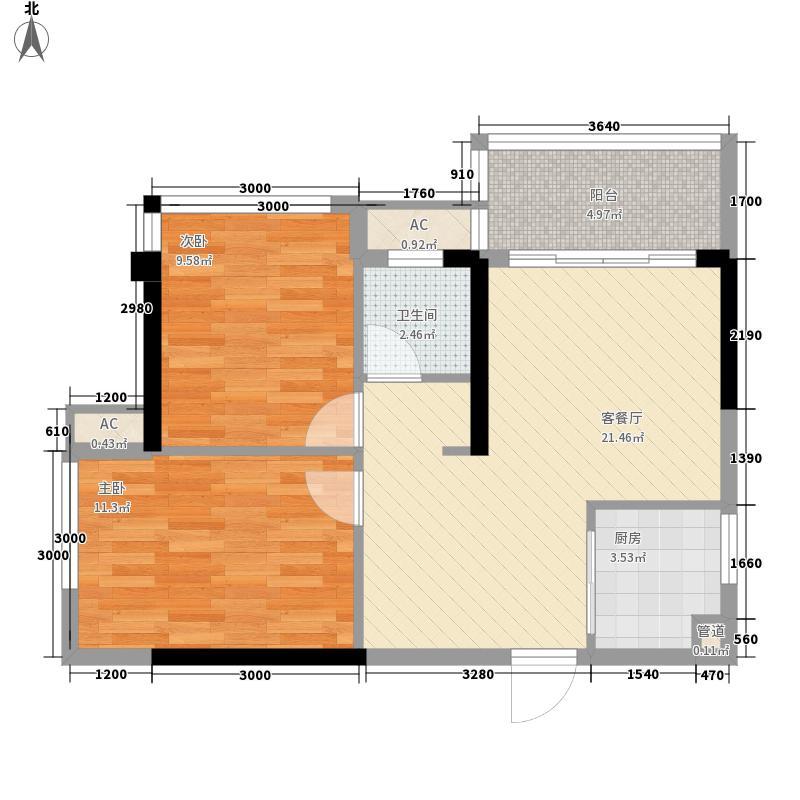 庭香园_调整大小户型2室2厅1卫1厨