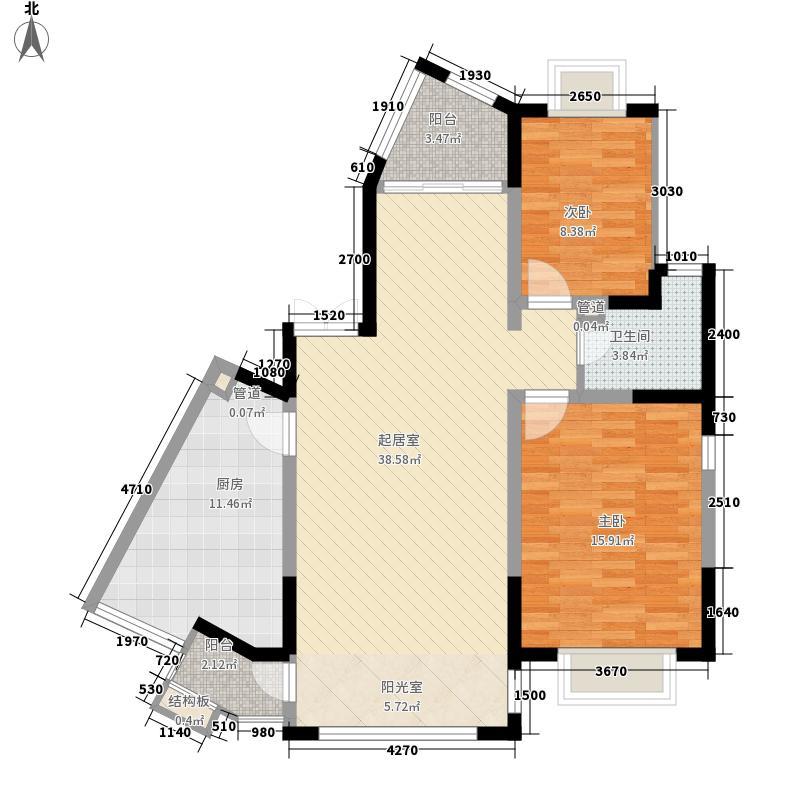 欧风丽景12.00㎡f1、m2户型2室2厅1卫1厨