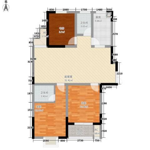 南湖家苑(二期)3室0厅2卫1厨120.00㎡户型图