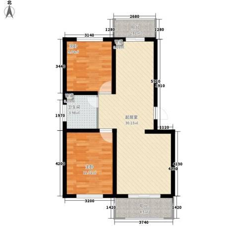 东港新城2室0厅1卫0厨71.79㎡户型图