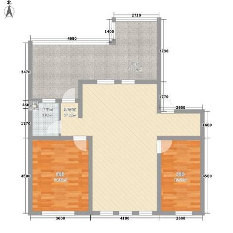鑫安厚德园2室0厅1卫0厨86.86㎡户型图