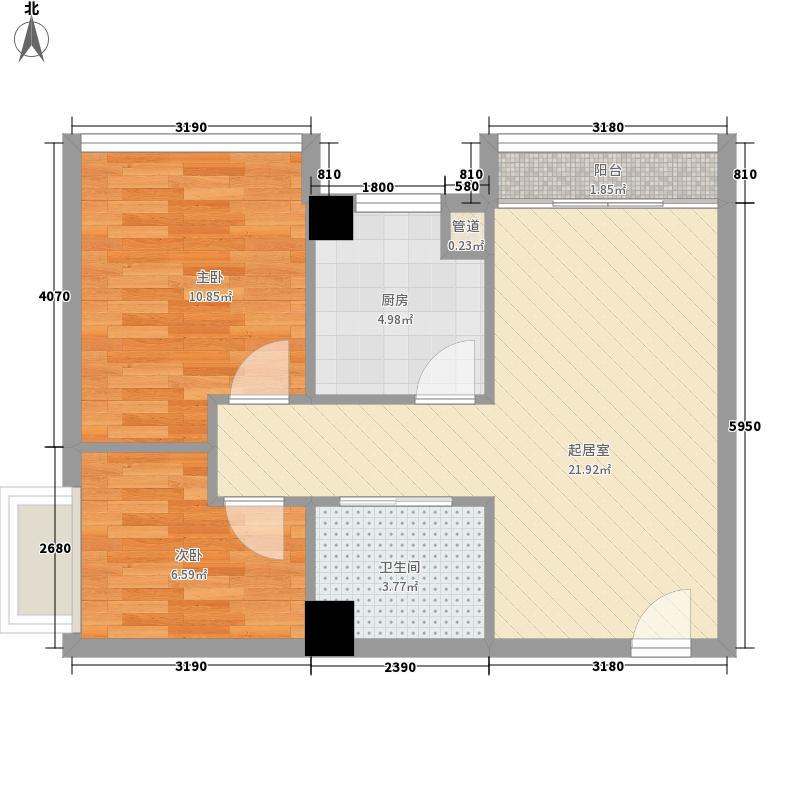 香林玫瑰园74.00㎡香林玫瑰园2室户型2室