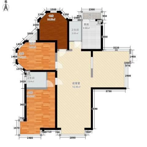 格林梦夏3室0厅2卫1厨154.00㎡户型图