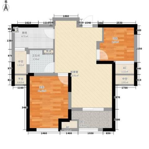 新城香悦半岛2室0厅1卫1厨84.00㎡户型图