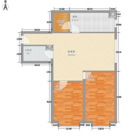 花样年华2室0厅1卫1厨97.00㎡户型图