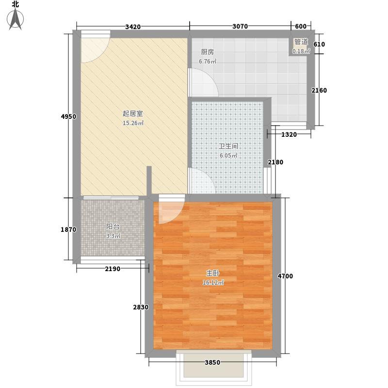 润扬广场68.00㎡户型1室
