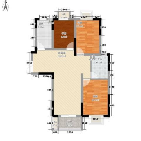 南湖家苑(二期)3室0厅1卫1厨106.00㎡户型图