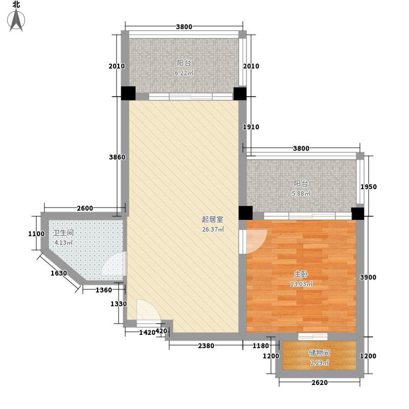 润扬广场52.00㎡户型1室