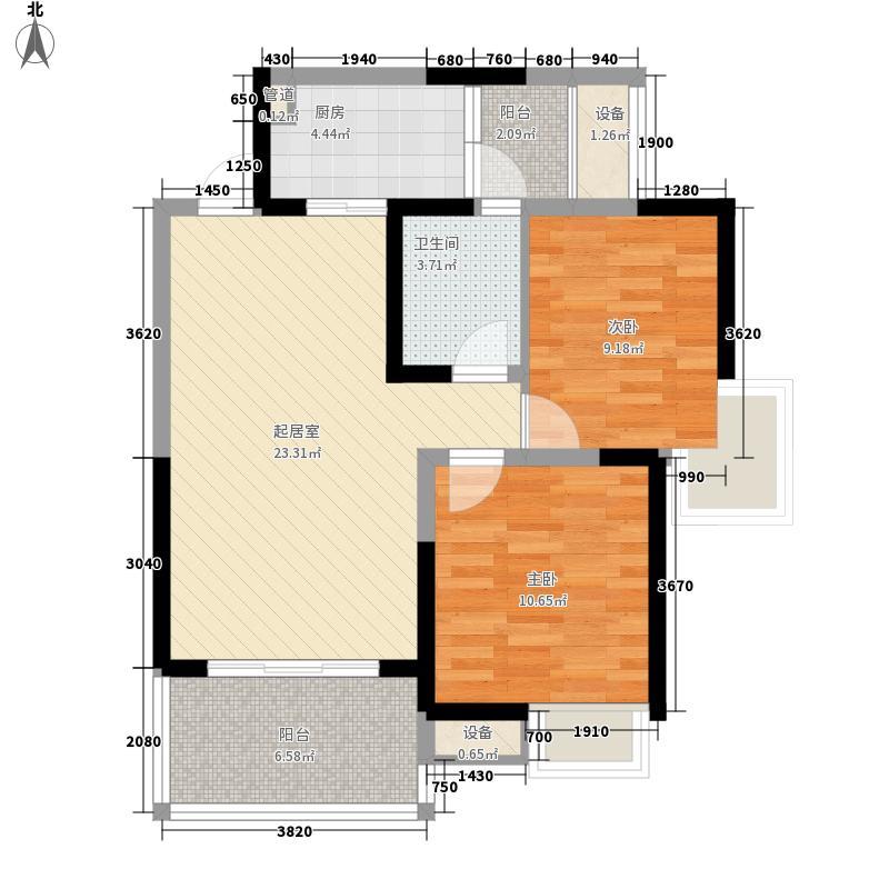 镏金岁月80.00㎡镏金岁月户型图A52室2厅1卫1厨户型2室2厅1卫1厨