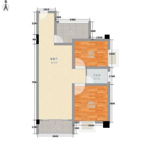 华丽楼2室1厅1卫0厨94.00㎡户型图