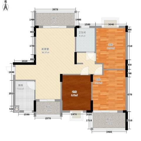 银厦翠竹庭院3室0厅1卫1厨120.00㎡户型图