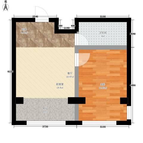 西域明珠1室0厅1卫0厨47.00㎡户型图