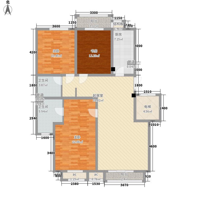 天庆莱茵小镇153.09㎡D1/D2户型3室2厅2卫1厨