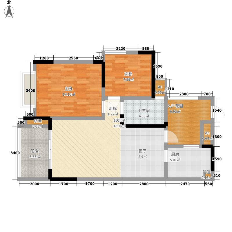 富洲新城72.90㎡一期11号楼标准面积7290m户型