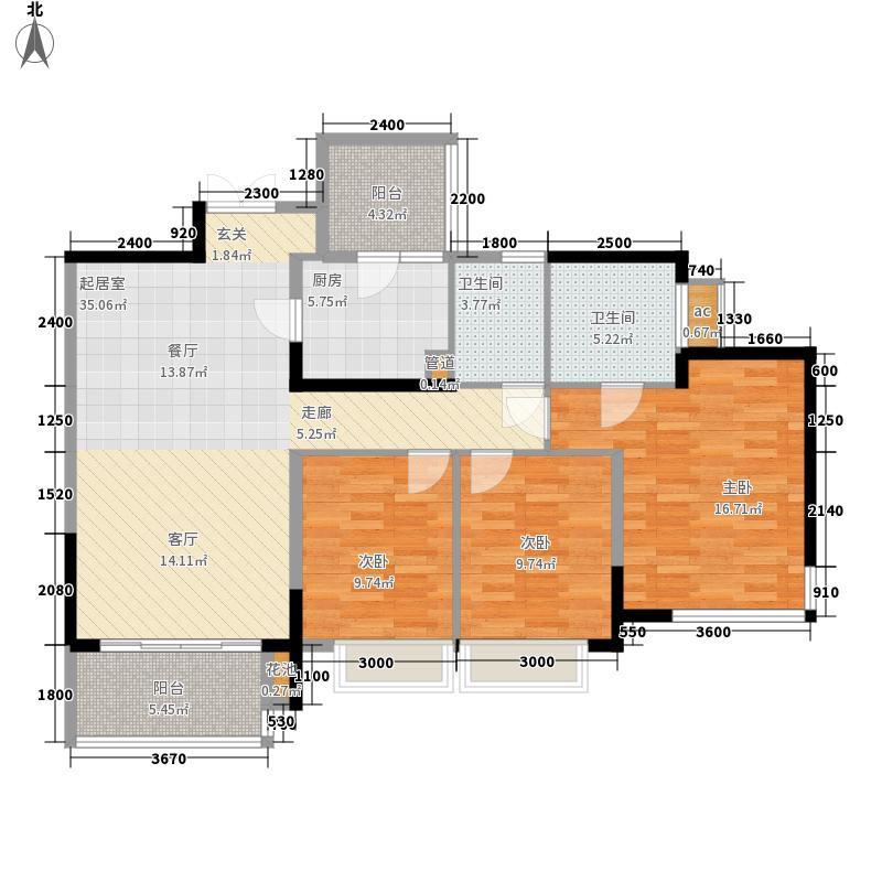 富洲新城102.46㎡一期10号楼标准面积10246m户型