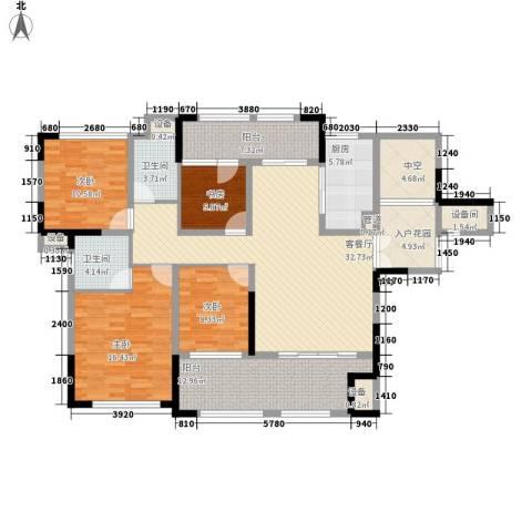 宣佳世纪嘉园4室1厅2卫1厨141.00㎡户型图