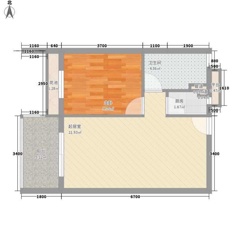 月湖湾小区一居室户型