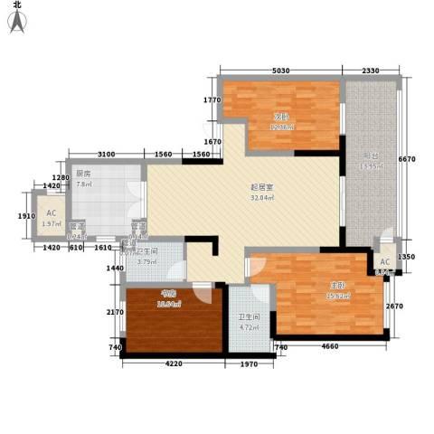新城香悦半岛3室0厅2卫1厨151.00㎡户型图