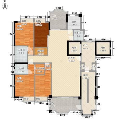 帝豪花园4室0厅3卫1厨239.00㎡户型图