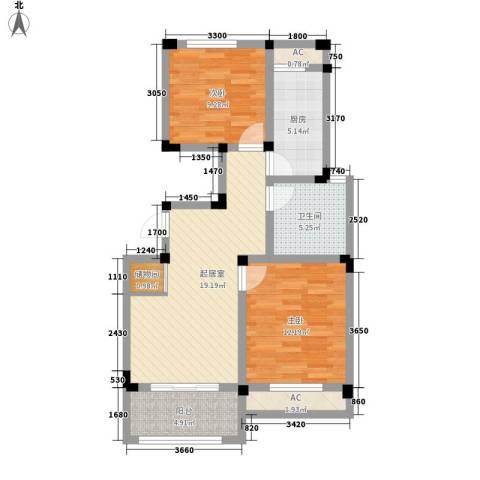 芦墅星苑2室0厅1卫1厨93.00㎡户型图