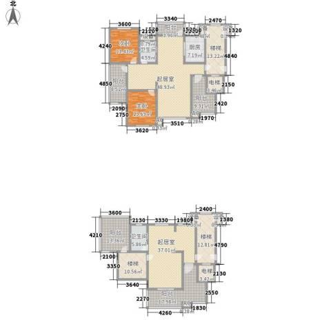 九岛梦都城2室0厅2卫1厨334.00㎡户型图