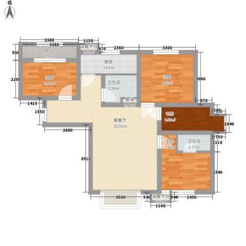 长春明珠4室1厅2卫1厨91.00㎡户型图