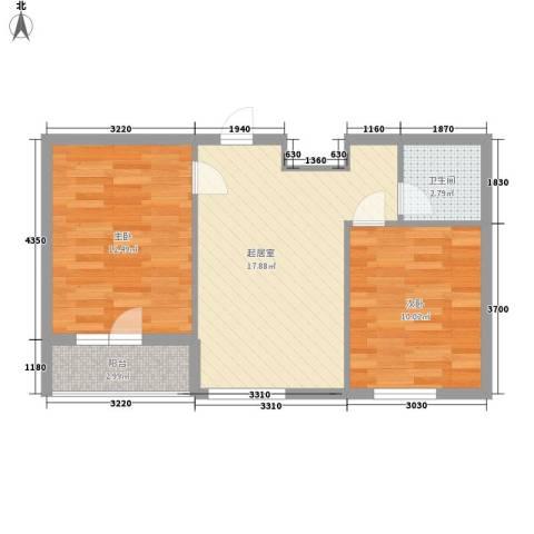 元兴 理想新城2室0厅1卫0厨64.00㎡户型图
