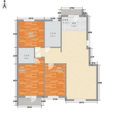 元兴 理想新城3室0厅2卫0厨126.00㎡户型图