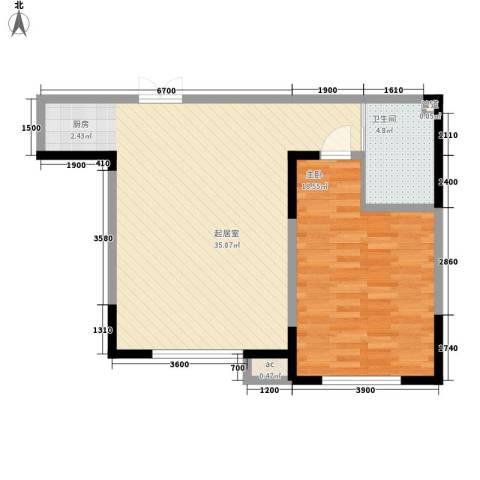 南湖祥水湾1室0厅1卫0厨79.00㎡户型图
