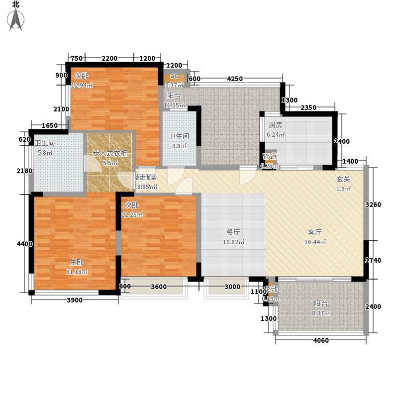 富洲新城122.79㎡1期3号楼标准层面积12279m户型