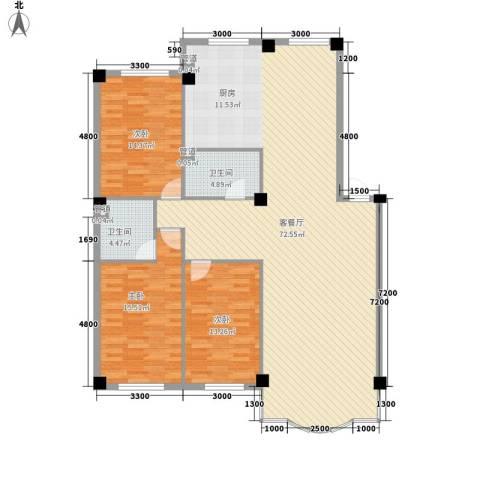东大智慧鑫园3室1厅2卫0厨157.00㎡户型图