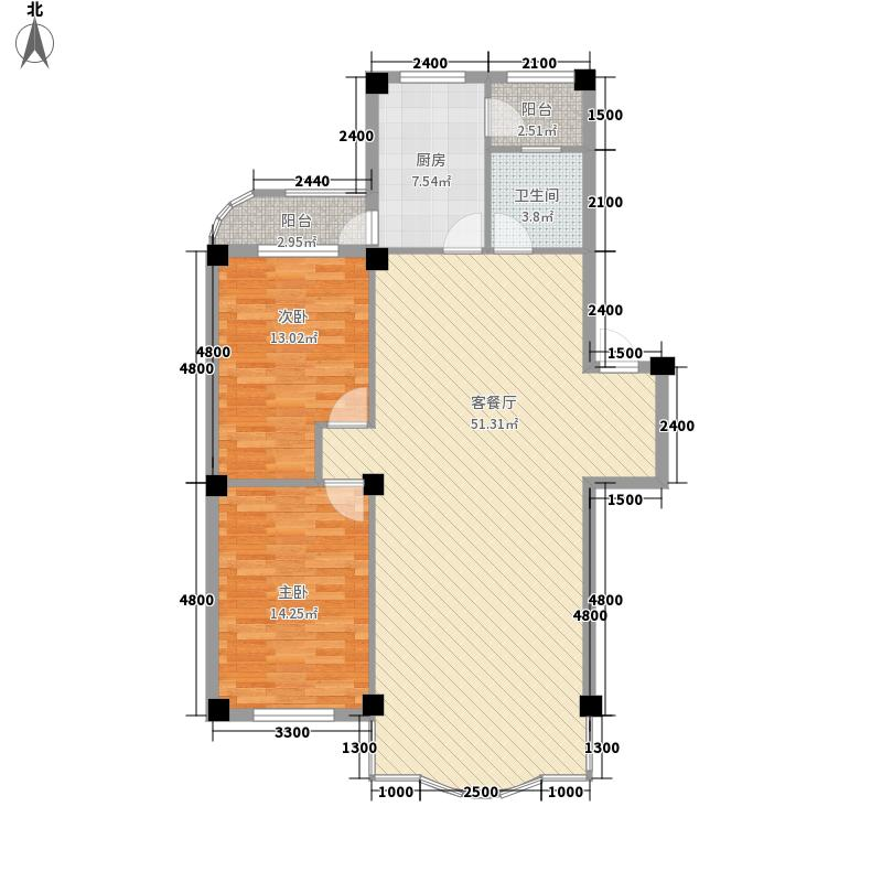 东大智慧鑫园123.85㎡东大智慧鑫园户型图2室2厅1卫户型10室