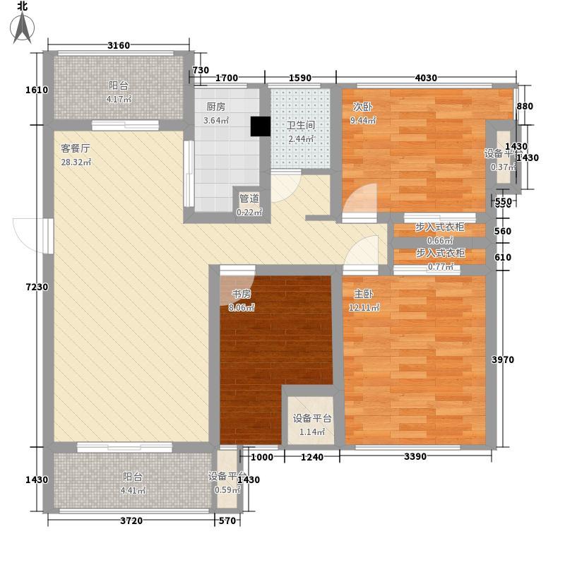 宝能城85.00㎡西区7-11#B户型3室2厅1卫1厨