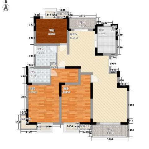 城开半岛花园3室1厅2卫1厨140.00㎡户型图
