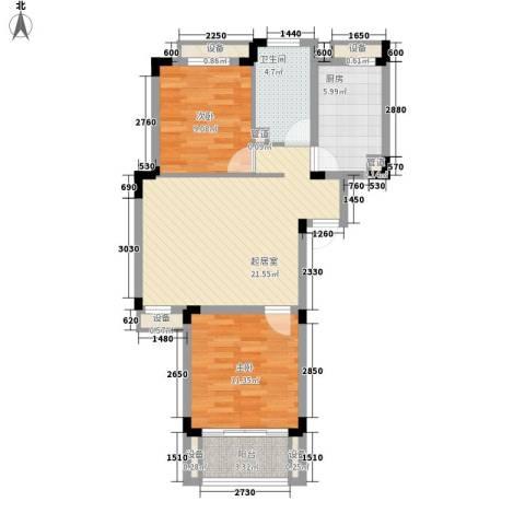 左邻右里2室0厅1卫1厨86.00㎡户型图