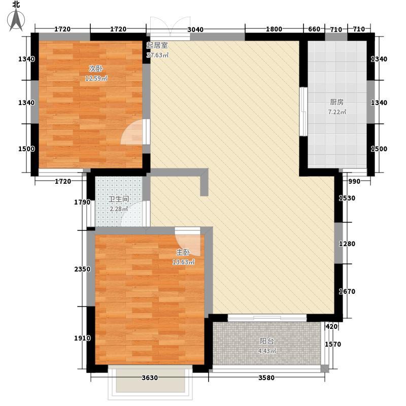 新天地红太阳花园111.00㎡A-2户型2室2厅1卫