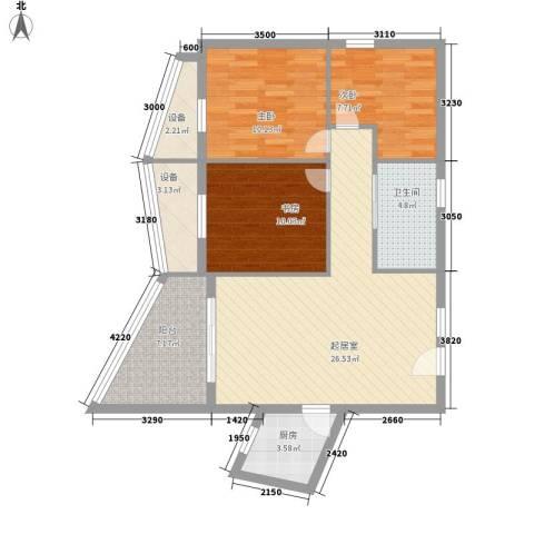 左邻右里3室0厅1卫1厨107.00㎡户型图
