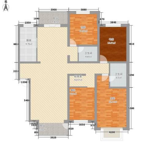 世纪新居3室0厅2卫1厨244.00㎡户型图