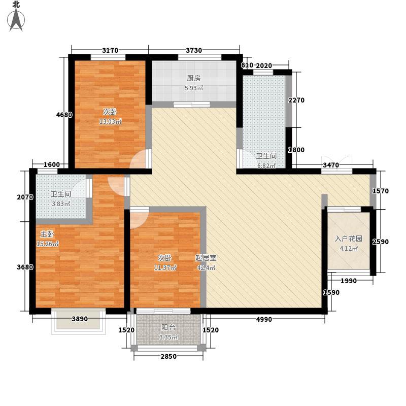 新天地红太阳花园167.17㎡A-3户型3室2厅2卫