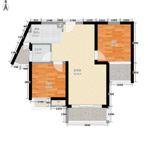 名流印象花园2室0厅1卫0厨70.00㎡户型图