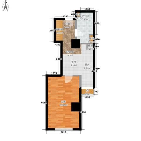 仙都绿苑1室0厅1卫0厨53.91㎡户型图