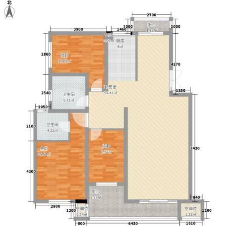 帝景传说山邸3室0厅2卫0厨131.00㎡户型图