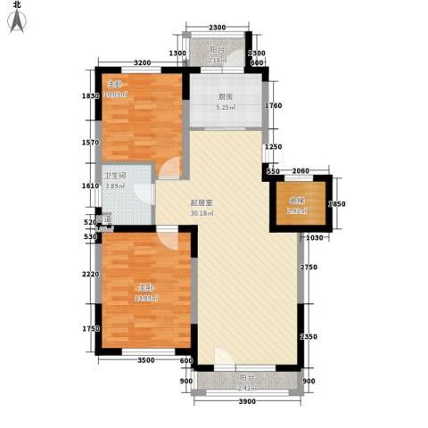 一汽22街区2室0厅1卫1厨75.00㎡户型图