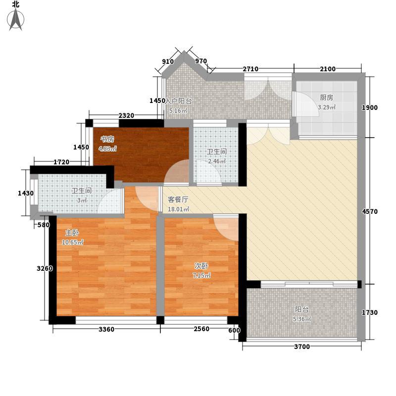 集大广场121.00㎡集大广场3室户型3室