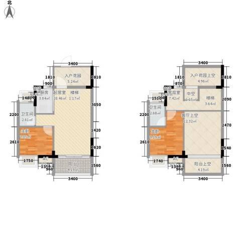 名流印象花园2室0厅2卫1厨88.00㎡户型图