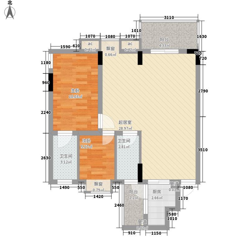 振兴大厦 2室 户型图