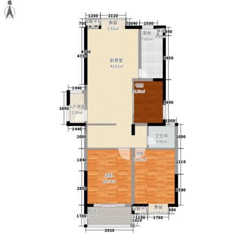 众兴华庭3室0厅1卫1厨117.00㎡户型图