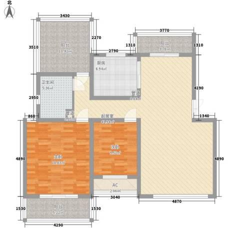 瑞江花园2室0厅1卫1厨150.00㎡户型图